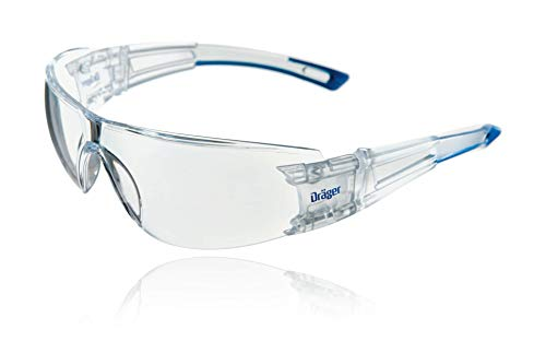 Dräger Schutzbrille X-pect 8330 | Leichte einstellbare Sicherheitsbrille | Für Baustelle, Werkstatt, Fahrrad-Fahren, Joggen | Klar, Kratzfest und beschlagfrei | 10 St.