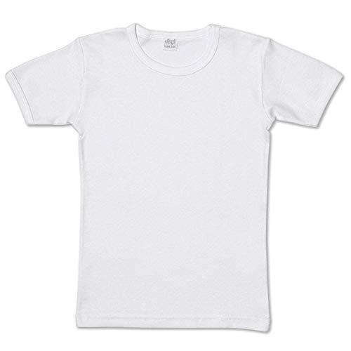 Ellepi 6 Magliette Intime Bimbo in Puro Cotone Anallergico con Cuciture Comfort Colore Bianco. Taglia 5
