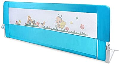 Greensen Bed Rail for Toddler, Safety Bedrail Guard for Kids Children Twin Double Full Size Queen and King Mattress, 59in, Blue