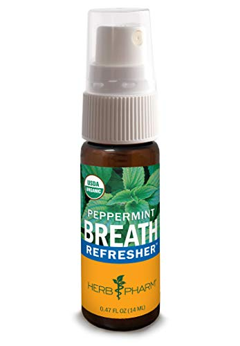Herb Pharm Breath Refresher Certified Organic Herbal Fresh Breath...