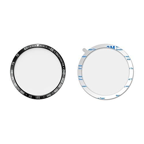 WATCHCASE/Zifferblatt-Schutzrahmen für Galaxy-Uhr 46mm, Modedekoration schützt den Uhrrahmen (Color : Black White)