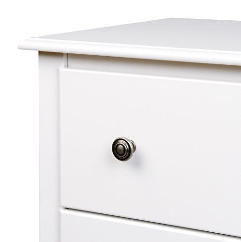 White Monterey Tall 6 Drawer Chest