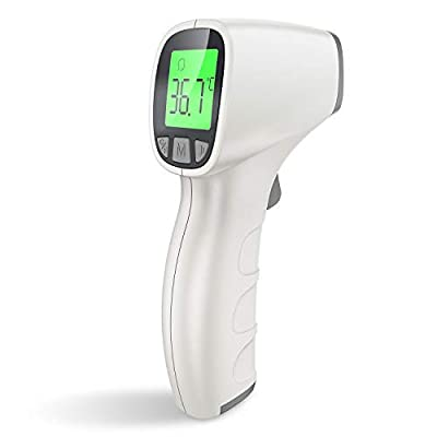 [[ U.S Stock ]] Infrared Thermometer, Non-Contact Forehead Thermometer forAdults and Kids,Medical Digit (Light Blue Button)