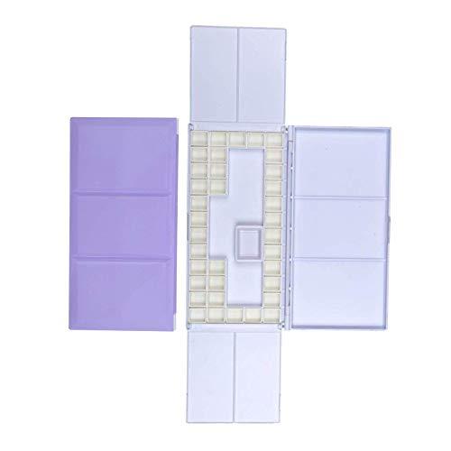 YuuHeeER Travel Watercolour Case With Foldable Paint Palette Porcelain Water Purple