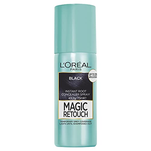 L'Oreal Paris Magic Retouch Temporary Root Concealer Spray - (Instant Grey Hair Coverage), Black 1