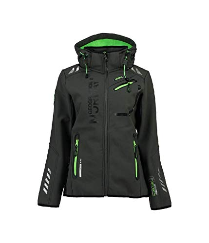 Geographical Norway Damen Softshell Funktions Outdoor Regen Jacke Sport (XL, Schwarz)