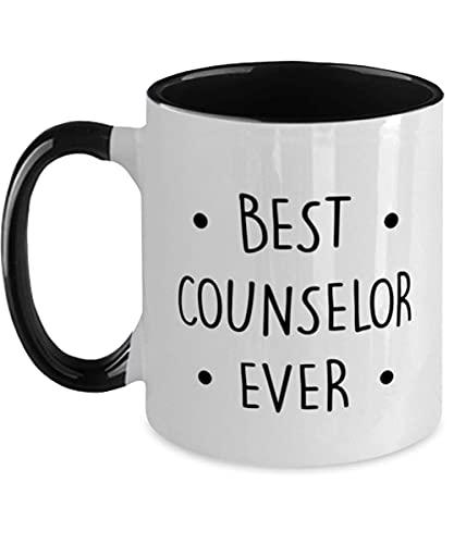 N\A Taza de Dos Tonos Counselor - El Mejor Consejero de Todos los Tiempos - Divertido para Consejero genético, Escolar y de orientación