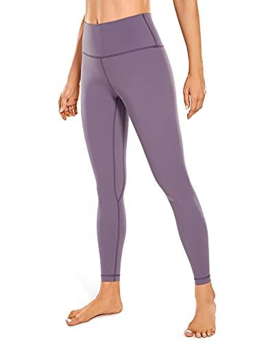 CRZ YOGA Damen Sports Yoga Leggings Hoher Taille Sporthose mit Tasche -63cm Matt Purple 38