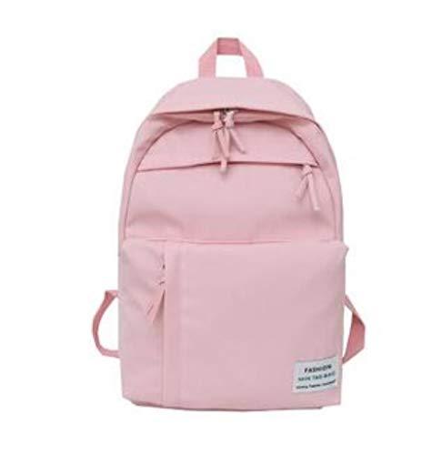Mode Nylon Dames Rugzak Schooltassen voor tieners Meisjes preppy stijl Studentenrugzak Vrouwelijke rugzak Damesrugzakken, roze XM8986,29Lx16Wx44H CM