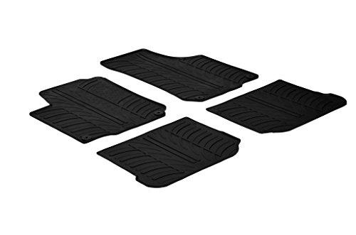 Set tapis de caoutchouc compatible avec Volkswagen Golf IV 5 portes/Bora/Beetle & Seat Leon/Toledo 1M & Skoda Octavia I (T profil 4-pièces + clips de montage)
