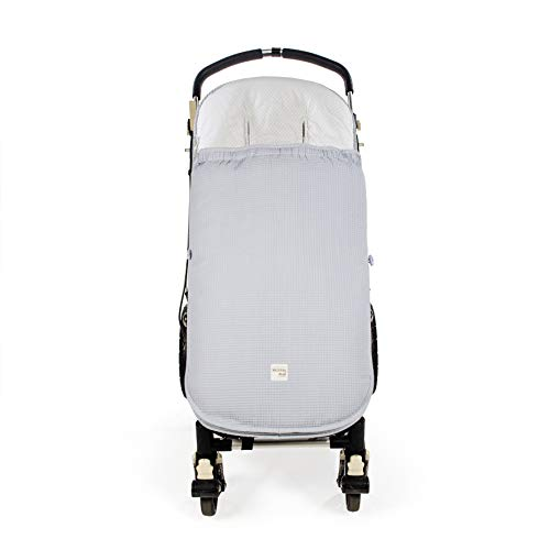 Walking Mum. Saco silla de paseo Baby Nature Ocean. Funda para silla de paseo. Uso universal y compatible con la mayoría de los carros y portabebés. Color Azul.
