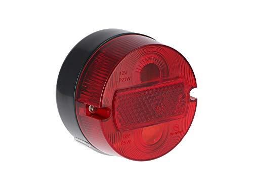 MZA-Fahrzeugelektrik Rücklicht rund komplett, Ø100mm, mit Kennzeichenbeleuchtung - Simson S50, KR51/2 Schwalbe