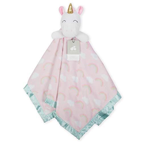 Just Born Boys and Girls Newborn Infant Baby Toddler Nursery Cuddleplush Toy Animal Security Blanket, Pink Unicorn, One Size