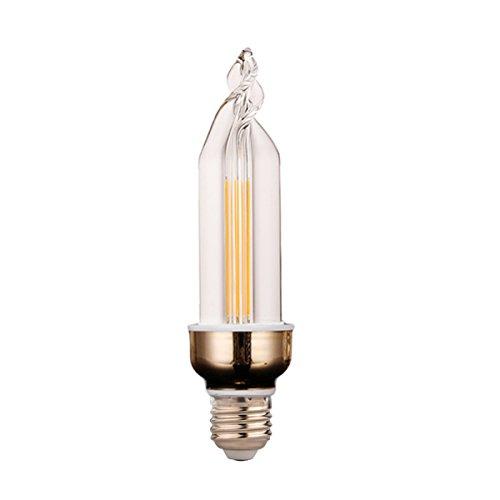 WELSUN LED Bougie Ampoule E27 4W 300-400LMLED Blanc Froid/Blanc Chaud Ampoule Lampe Feux Arrière Glace LED Éclairage Économie d'énergie AC 220-240 V (1PCS) (Couleur : Blanc chaud)