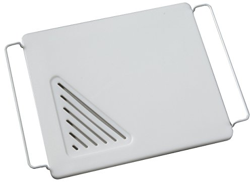 Vance Industries Vance 12 X 13 inch Over the Sink Poly Cutting Board with Adjustable Wire Handles, 8PC1213SB, White