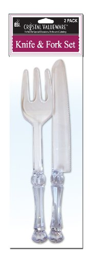 Crystal Valueware 2-Pack Knife and Fork Set