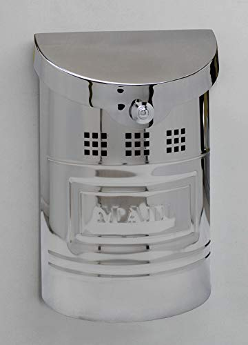 Ecco E1 Mailbox E1M - Polished Stainless Steel Finish - Small Size - Wall Mount Mailbox