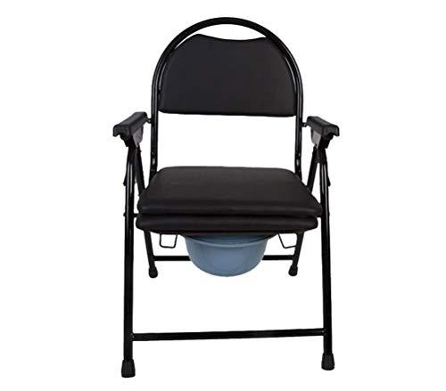 ZJN-JN Anziani Commode Sedia pieghevole mobile ad altezza fissa Toilet Seat Con Doccia sedia Bagno banale della sede Compatible with l'uomo anziano donne incinte Le sedie a rotelle per bagno