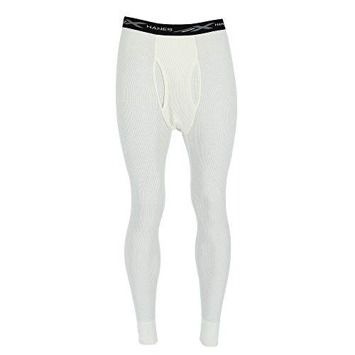 Hanes Men's Waffle Knit Thermal Pant with FreshIQ, X-Temp Technology & Organic Cotton Black