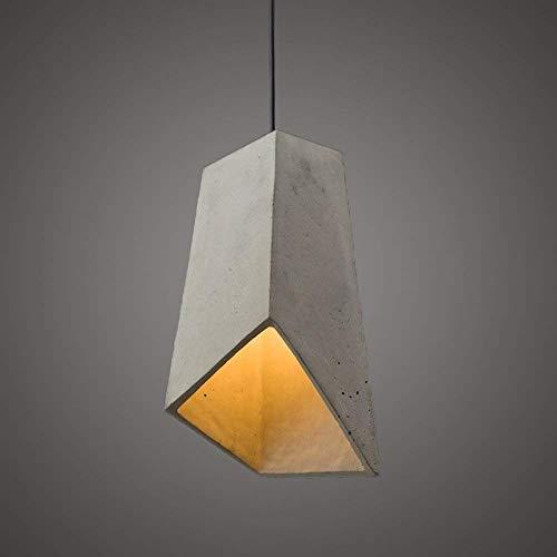 XinQing Lámparas de araña Creativa Trapezoidal Cemento Araña De Estudio De La Lámpara del Vintage Decoración De Ventana De La Cafetería Industrial