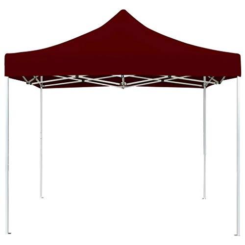 Ausla Pabellón de Fiesta Plegable 2 x 2M, Cenador de Jardín Resistente a los Rayos UV, Carpa de jardín Plegable para Exterior, Burdeos