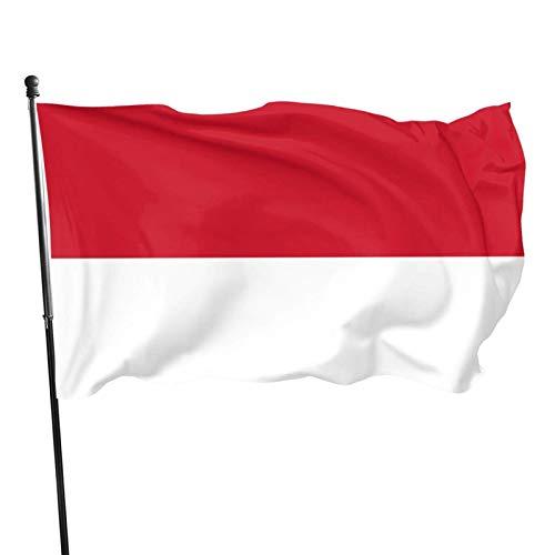La bandiera del Principato di Monaco 3x5 Foot Flag Outdoor Flag 100% poliestere traslucido monostrato 3x5 Ft