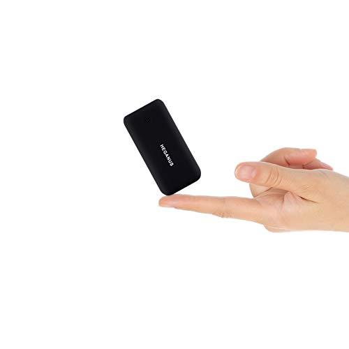 Heganus Mini Power Bank 10000mAh Leggero, Caricatore Portatile Type-C Veloce (2.4A Totale) con 1 Uscite e 2 Ingressi di Tipi Compatibile Universale con Tutti i Telefoni