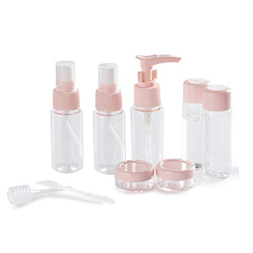 Cxssxling - Lote de 9 botellas vacías de viaje para cosméticos, champú, gel de ducha, azul (Azul) - UW4T8KZTPE