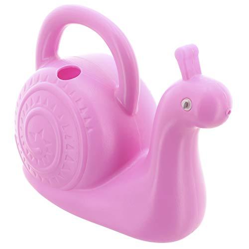 MIK Funshopping Gießkanne aus Kunststoff im lustigen Tier-Design, Volumen 1,5 Liter (Schnecke rosa)