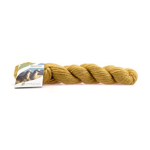 50 g Pascuali Alpaca Fino | Strickwolle aus 100% Alpakawolle | Fair gehandelte Alpaka-Wolle, Farbe:Sonnengelb 32