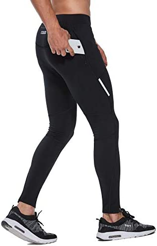 FitsT4 Thermal Fleece Lined Cycling Tights Winter Hiking Leggings Running Workout Pants for product image
