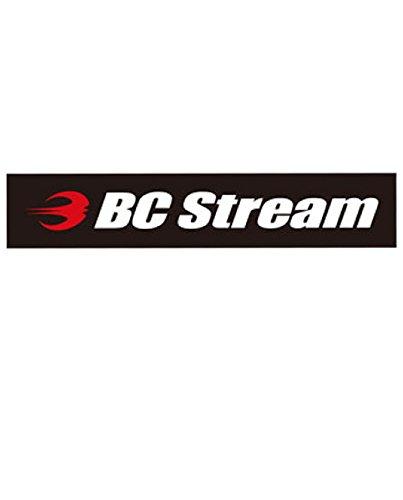 スノーボード ステッカー BC-Stream [BC-4] ビーシーストリーム カッティングステッカー (RED_WHT)
