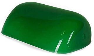 REFURBISHHOUSE Color Verde Cubierta de LáMpara de Banco de Vidrio/LáMpara de Banqueros Pantalla de Vidrio Pantalla de LáMpara