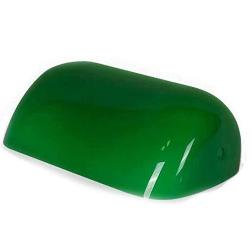 NO BRAND Tuneway Color Verde Cubierta de LáMpara de Banco de Vidrio/LáMpara de Banqueros Pantalla de Vidrio Pantalla de LáMpara