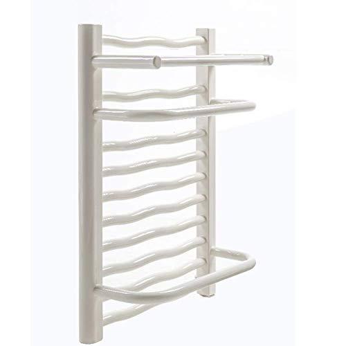 壁掛けタオル掛け波状家庭用バスルーム壁掛け低スチールタオルヒーターバスタオル衣類乾燥機白ハードワイヤー