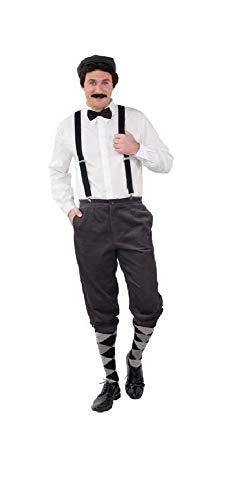shoperama Hochwertige Knickerbocker Cord Hose 20er Jahre Herren Peaky Blinders Paper Boy Oktoberfest Tracht Kostüm-Zubehör, Farbe:Grau, Größe:46/48