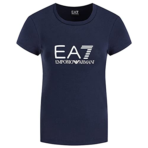 Emporio Armani EA7 8NTT63 TJ12Z - Camiseta de manga corta para mujer Azul oscuro. XL