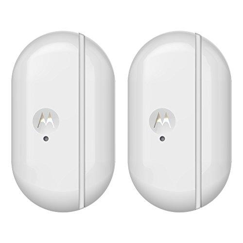 Motorola Smart Nursery Alert Sensor Duo Pack - Sensores de puertas y ventanas conectado con alertas, color blanco