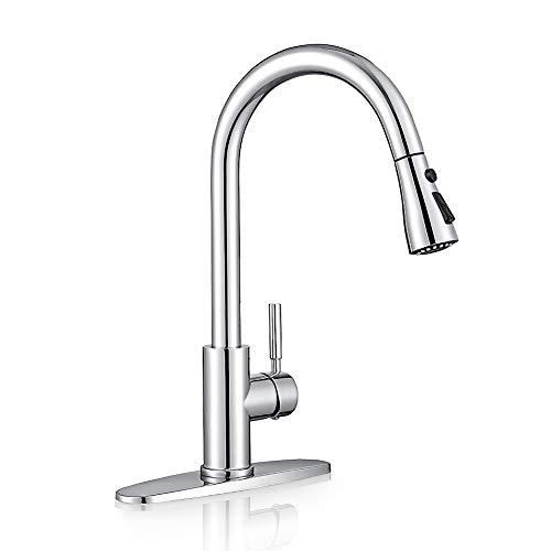 Sink Faucet, Pull Down Kitchen Faucet with Sprayer Low Lead...