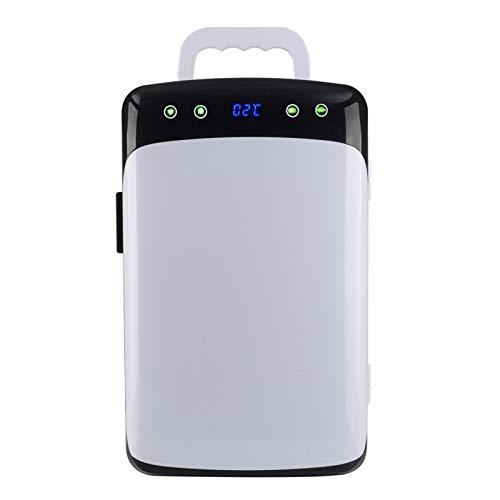MNCYGJ Mini Nevera De 12 L, Nevera para Coche, para Cosméticos, Nevera para Bebidas, Pequeño Minibar, Sistema Dual con Control De Temperatura (28 * 34 * 43 Cm)