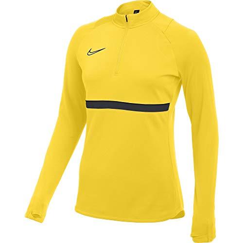 NIKE Academy CV2653-719 - Camiseta para Mujer (Talla L), Color Amarillo, Negro, Gris y Negro