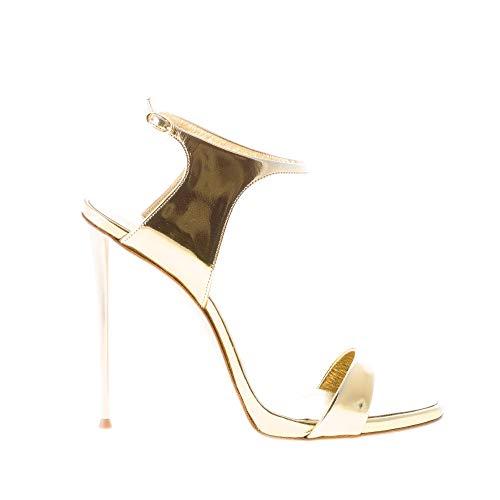 GIUSEPPE ZANOTTI DESIGN Donna Sandalo in Vernice Oro con Chiusura alla Caviglia. Tacco 11 cm Color Oro Size 39