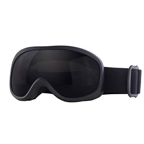 Gafas de esquí de invierno de doble capa gris lente de invierno gafas de snowboard gafas de protección UV anti niebla gafas de nieve para hombres mujeres negro
