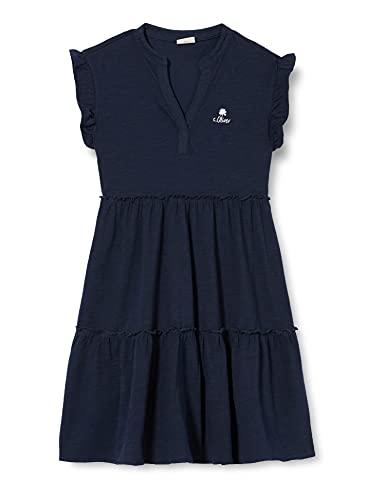 s.Oliver Junior Mädchen 401.10.105.20.200.2100416 Kinderkleid, Dark Blue, 158