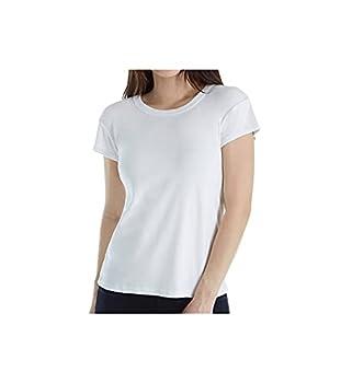 Michael Stars Women s 1x1 Cotton Short Sleeve Band Crew White os