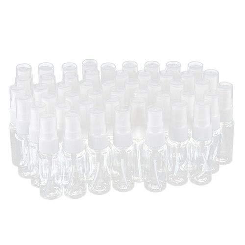WenJ 50 Piezas 20ml Botellas De Spray, Bote Vacía De Plástico Atomizadores Pulverizador, Viaje A Prueba De Fugas para Maquillaje Contenedores De Líquidos (Color : Clear)