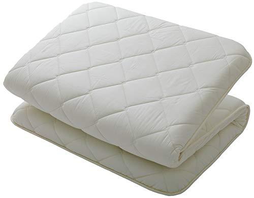 "MIINA Japanese Floor Matress, Shiki Futon, Floor Bed, Sofa Bed Matress, Volume Type Twin (39""×78""),100% Cotton, Made in Japan"