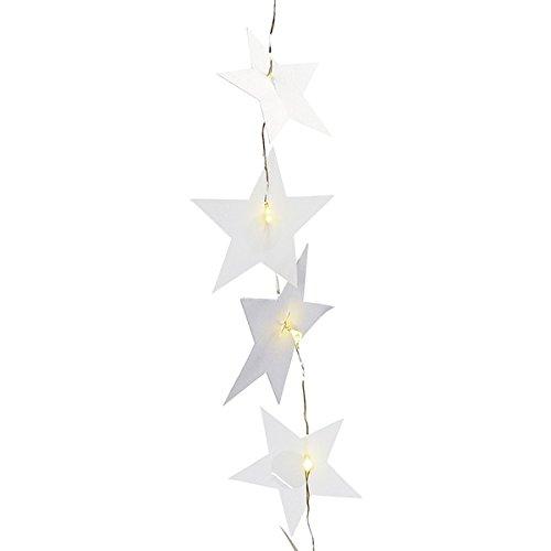 Räder Sternenlichter Kette, Silber mit LED's