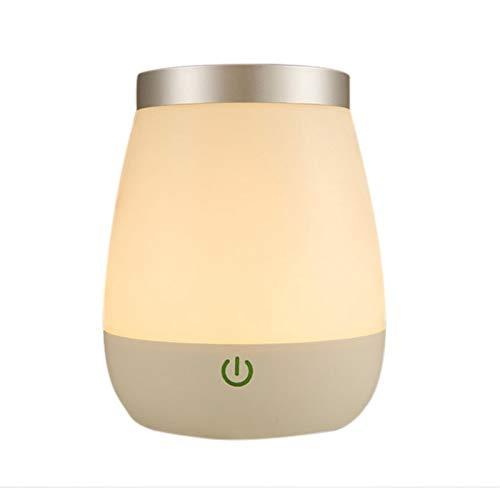 Lámpara LED de noche recargable, color blanco, lámpara de mesa, escritorio, luz nocturna, dormitorio, lámpara de mesita de noche, decoración para el hogar, iluminación interior