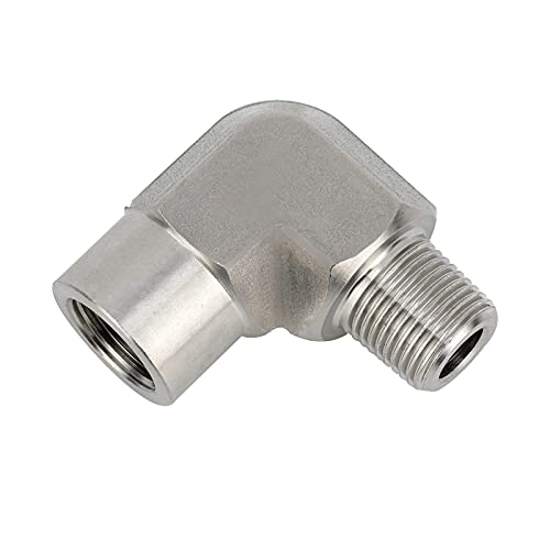 Avanty 304 Stainless Steel Pipe Fitting Forged 90 Degree Street Elbow 3/4' NPT Male x 3/4' NPT Female 2000psi